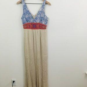 Flying Tomato Embroidered Gauze Boho Maxi Dress